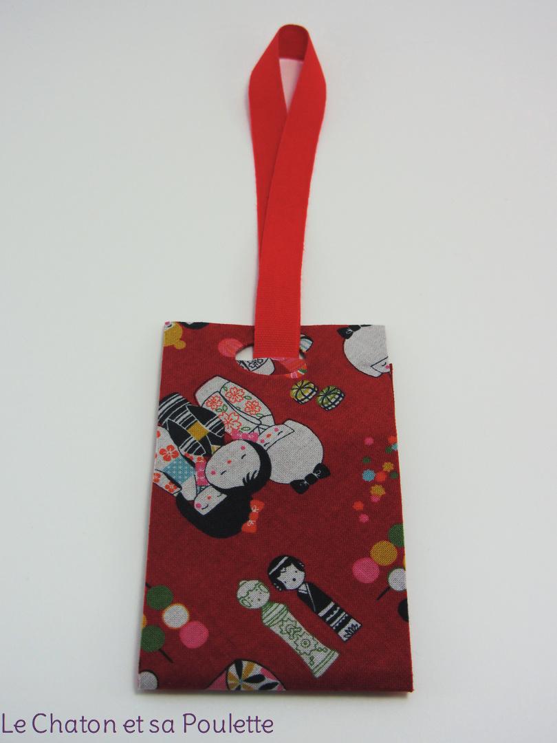 Porte-étiquette tissu Les Kokeshi