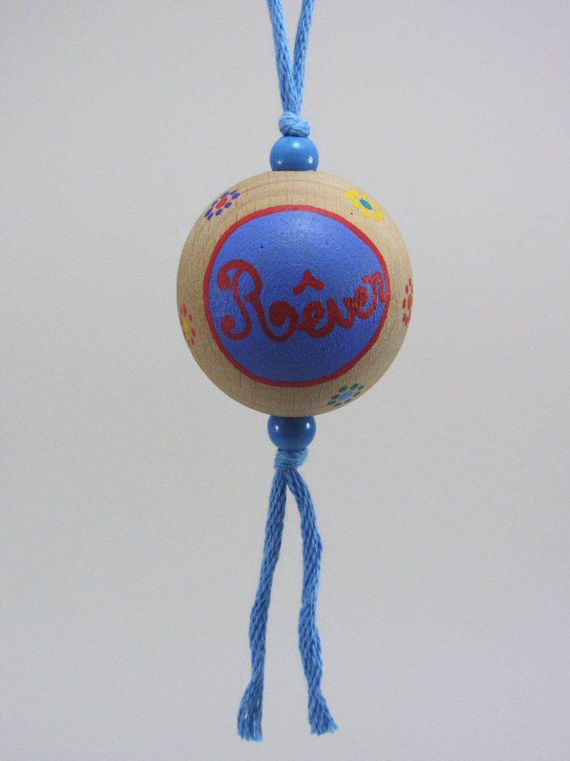 Boule bleue RÊVER (bleu/rouge) - Le Chaton et sa Poulette