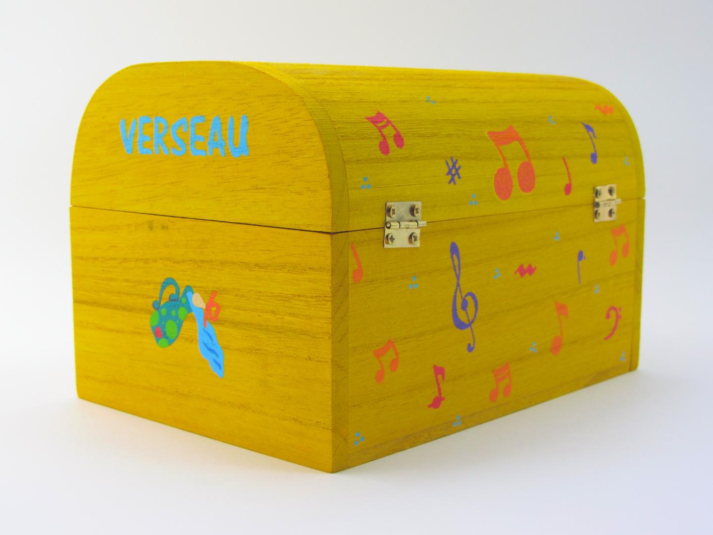 Coffret souvenirs de naissance jaune soleil - Le Chaton et sa Poulette