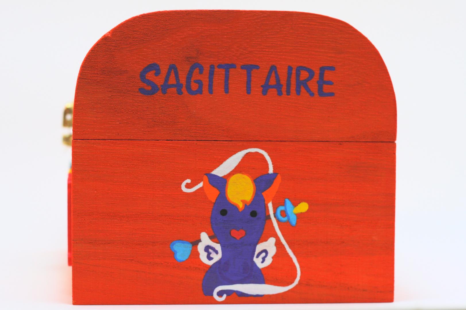 Coffret souvenirs de naissance orange carotte - Le Chaton et sa Poulette