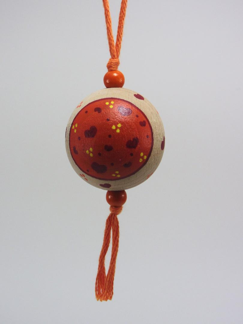 VENDUE - Verso Boule orange AMOUR (orange/rouge/jaune) - Le Chaton et sa Poulette