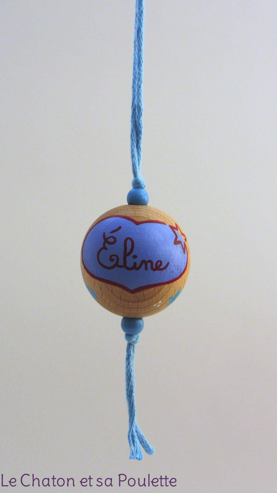 Boule bleue ÉLINE - Le Chaton et sa Poulette
