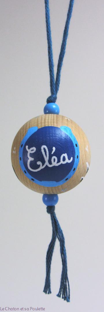 Boule bleue ÉLÉA - Le Chaton et sa Poulette