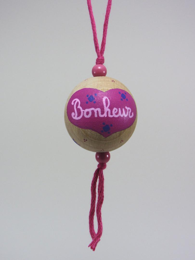 Boule fuchsia BONHEUR (fuchsia/rose/violet) - Le Chaton et sa Poulette