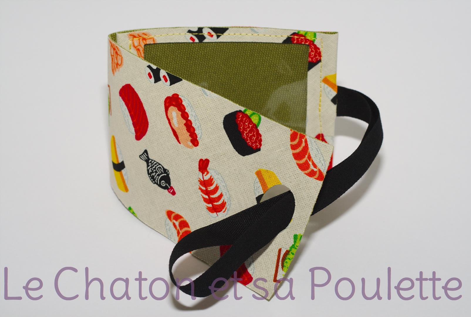 Porte-étiquette tissu Sushi