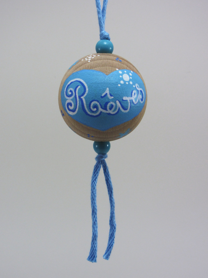 Boule bleue RÊVES (bleu/blanc) - Le Chaton et sa Poulette