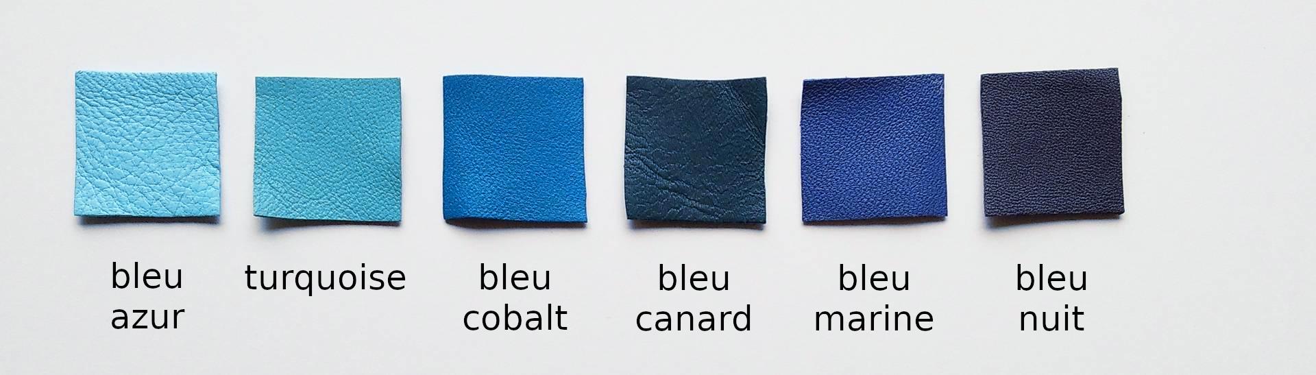 Le cuir du bleu azur au bleu nuit