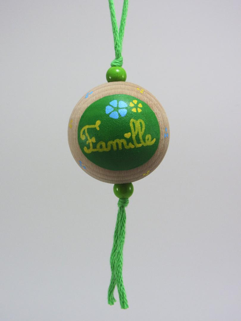 Boule verte FAMILLE (vert/bleu/jaune) - Le Chaton et sa Poulette