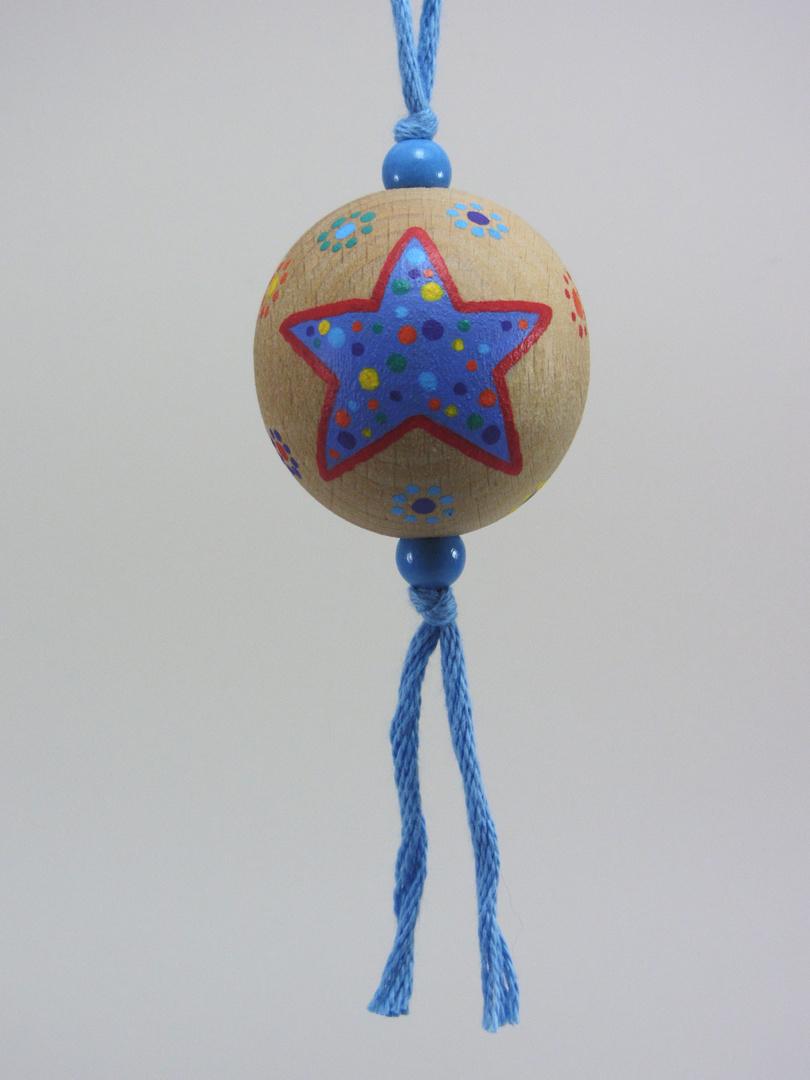 Verso Boule bleue RÊVER (bleu/rouge) - Le Chaton et sa Poulette