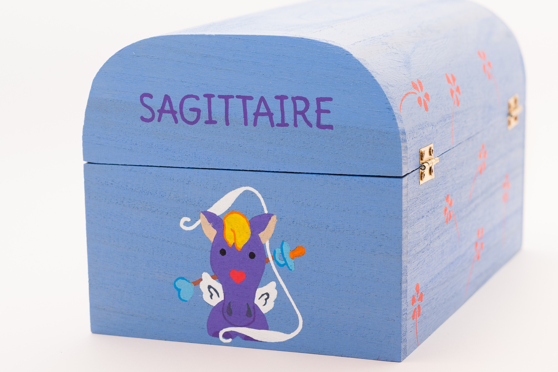 Coffret souvenirs de naissance bleu ciel - Le Chaton et sa Poulette