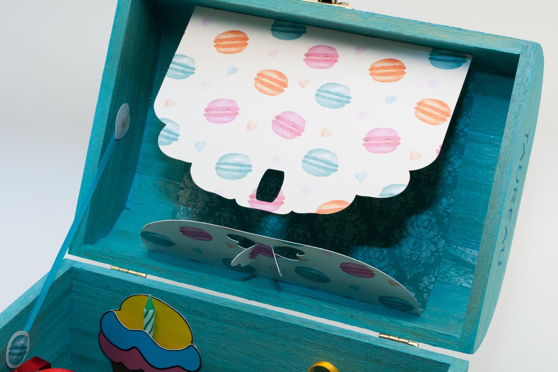 Coffret souvenirs de naissance turquoise - Le Chaton et sa Poulette