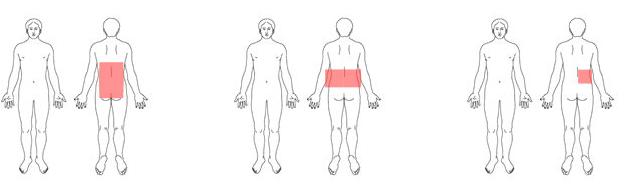 【症状が現れやすい場所】. ぎっくり腰