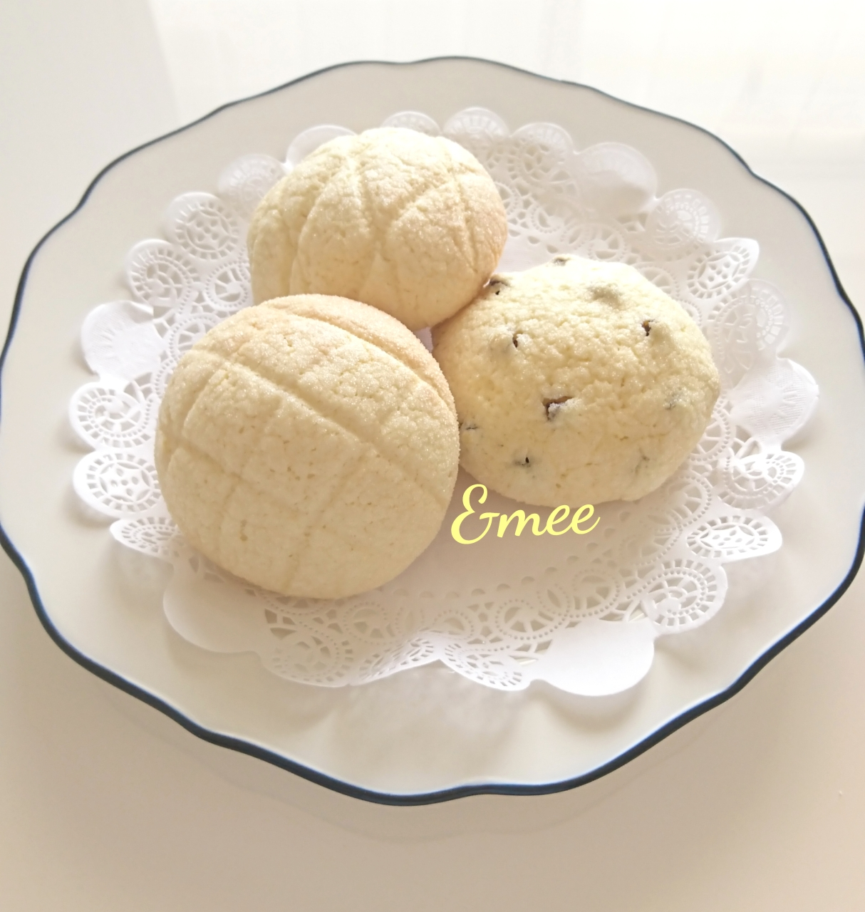 冷やしメロンパン&チョコチップメロンパン