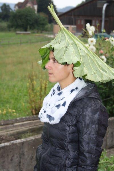Bei Regen hatte eine Teilnehmerin eine kreative Idee
