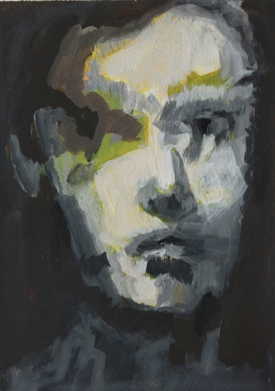 "Mischtechnik auf Acrylpapier  23x31 cm ""Portrait1"""