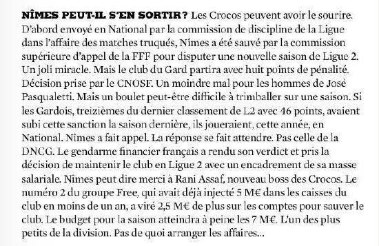 France Football du 29/07/2015