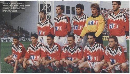 L'équipe mythique qui avait battu Montpellier en 1/2 finale de la Coupe de France 1996