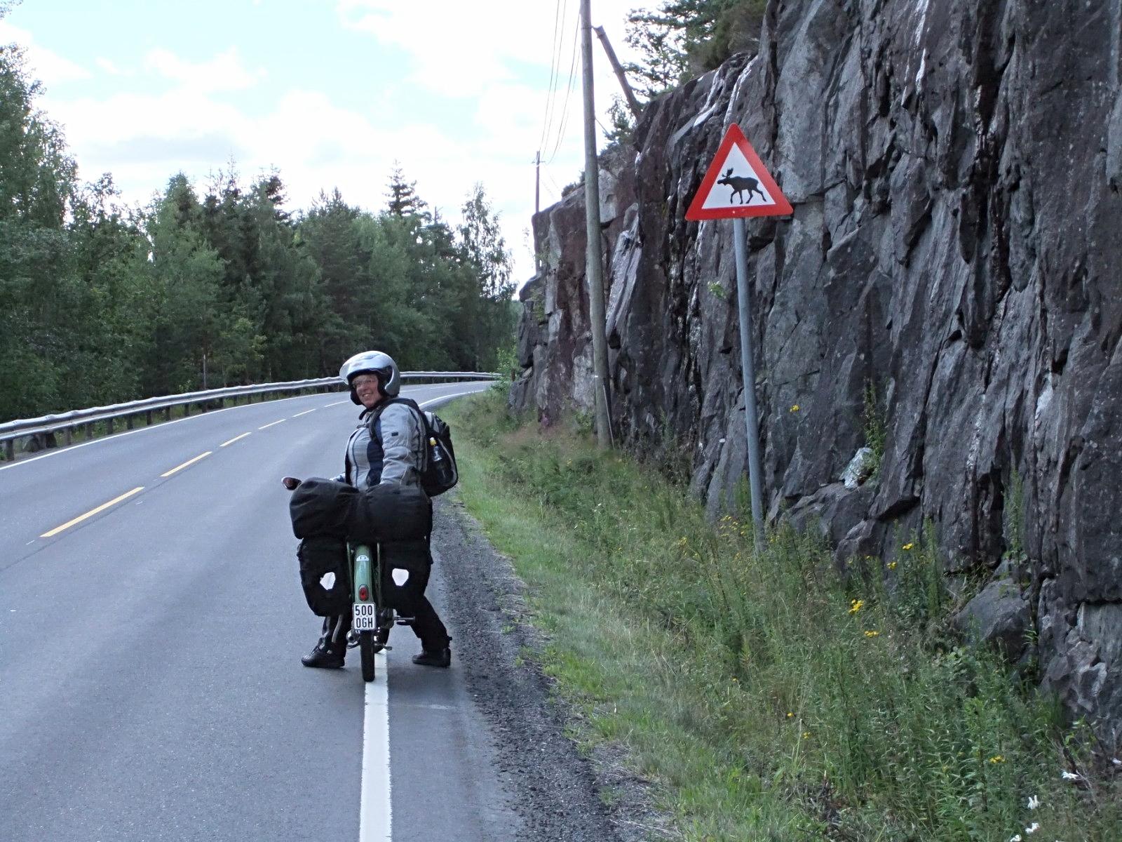 in den norwegischen Bergen unterwegs