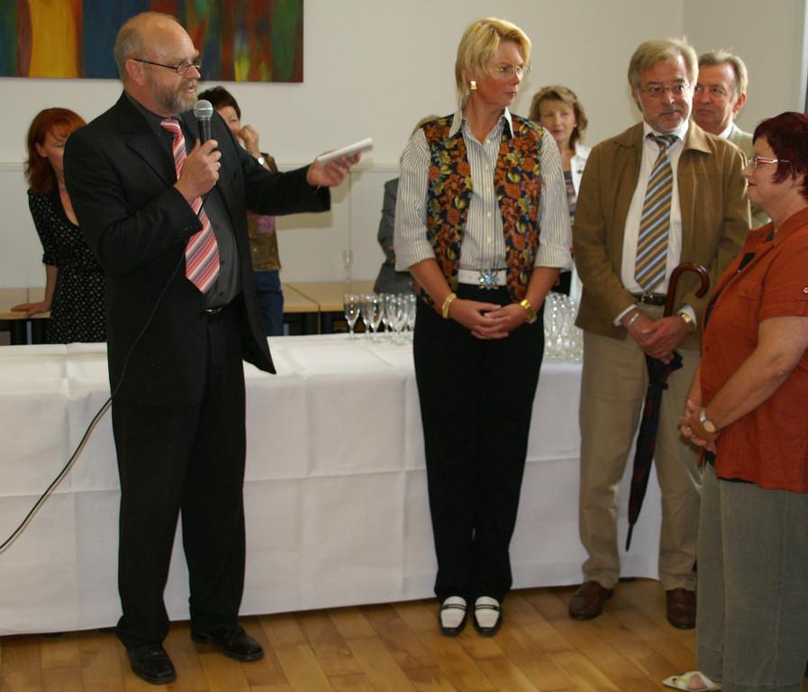Ausstellungseröffnung durch Herrn Schwarz, Direktor des Amtsgerichtes