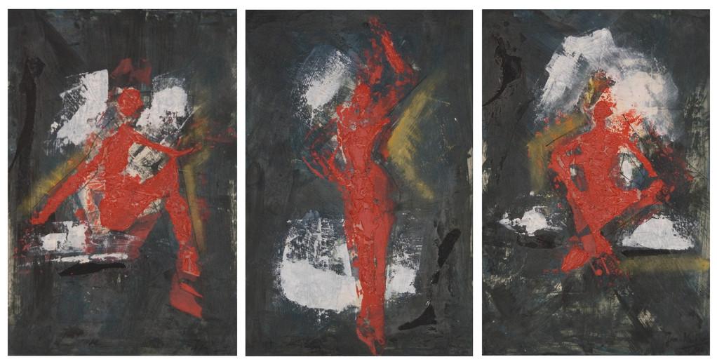 Malgrund: selbshergestelltes Porzellanpapier - Farbpigmente aufgetragen  - 1150 Grad gebrannt