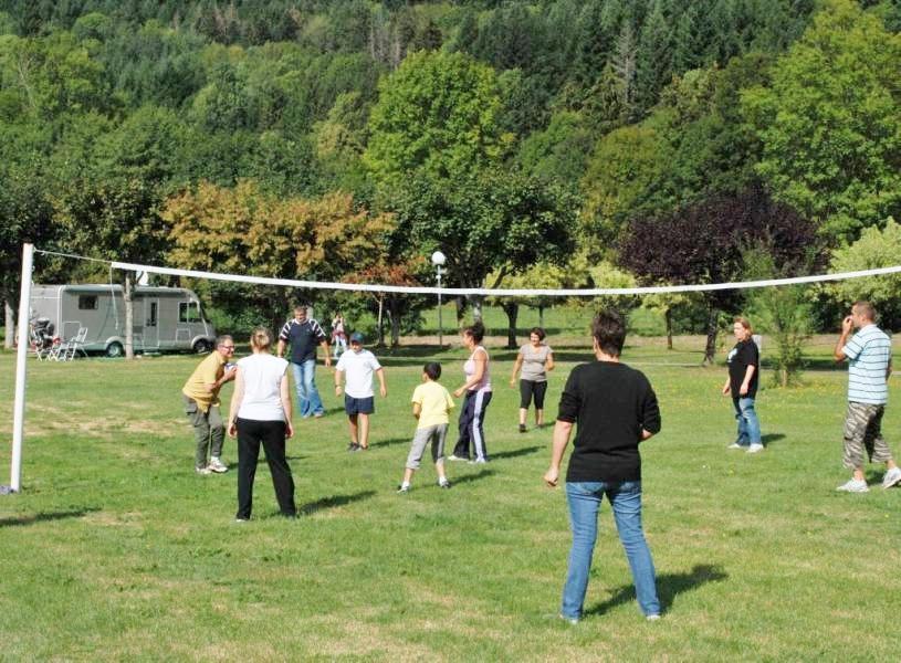 Terrain de volley