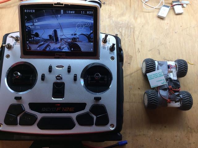 Devo F12e mit Rover - Bild Fronkamera