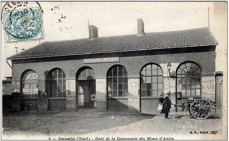 Gare des mines d'Anzin à Denain
