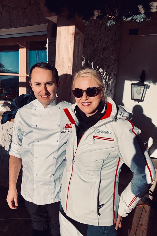 Ütia I Tablá: Chef Alberto Faccani**, vom Restaurant Magnolia in Cesenatico & Monika Pfitscher