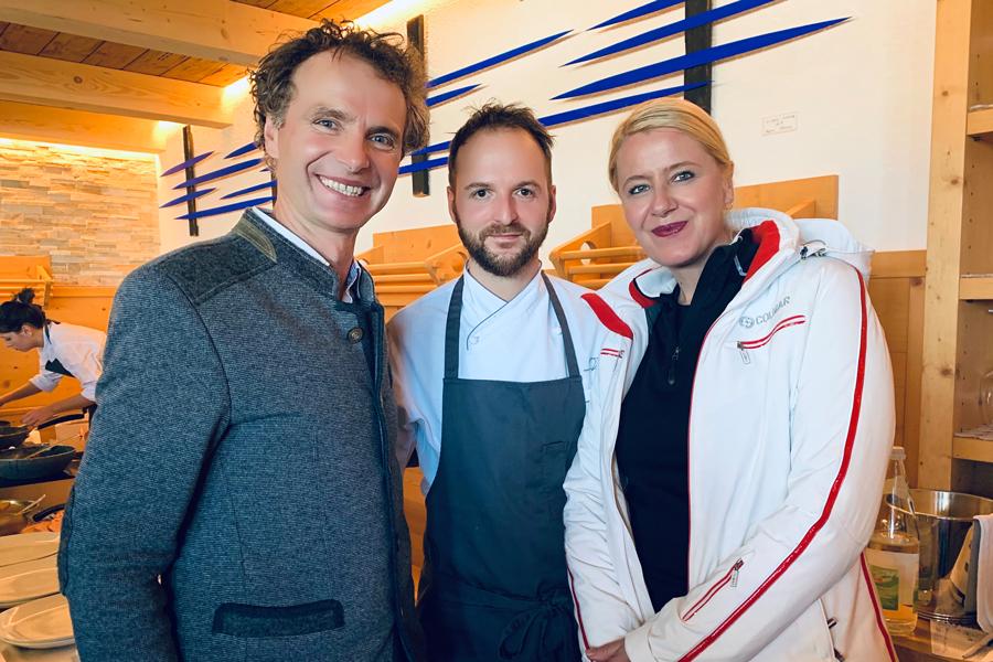 Ütia de Bioch: Hüttenwirt Markus Valentini, Chef Nicola Laera* - Restaurant La Stüa de Michil - Corvara, Monika Pfitscher