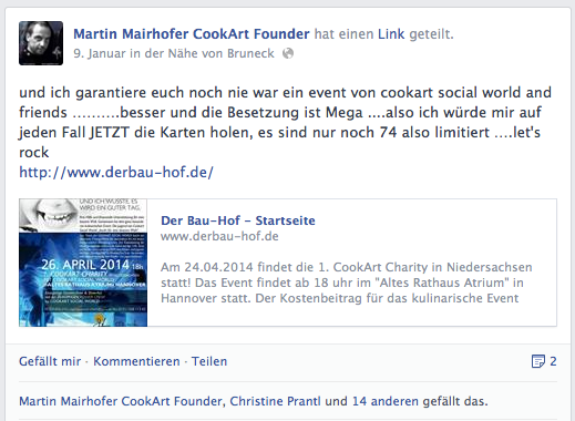 CookArt Social World Martin Mairhofer Gourmet Südtirol