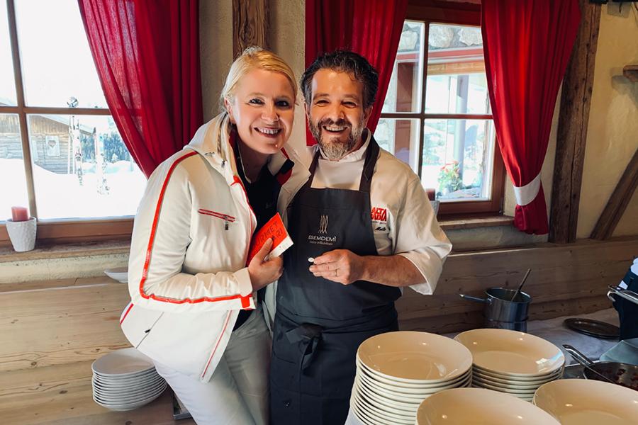Las Vegas Lodge: Monika Pfitscher & Chef Claudio Melis*, vom Restaurant In Viaggio in Bozen