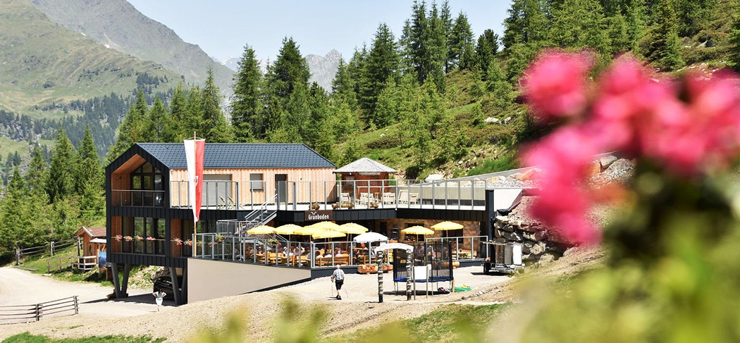Grünboden Hütte Rifugio Pfelders Plan Gourmet Südtirol