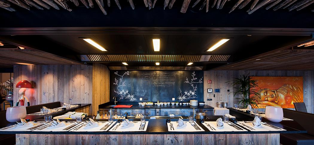 "Sky Restaurant ""Teppanyaki"" - Quellenhof - St. Martin - S. Martino - Ristorante - Albergo - Gourmet Südtirol"