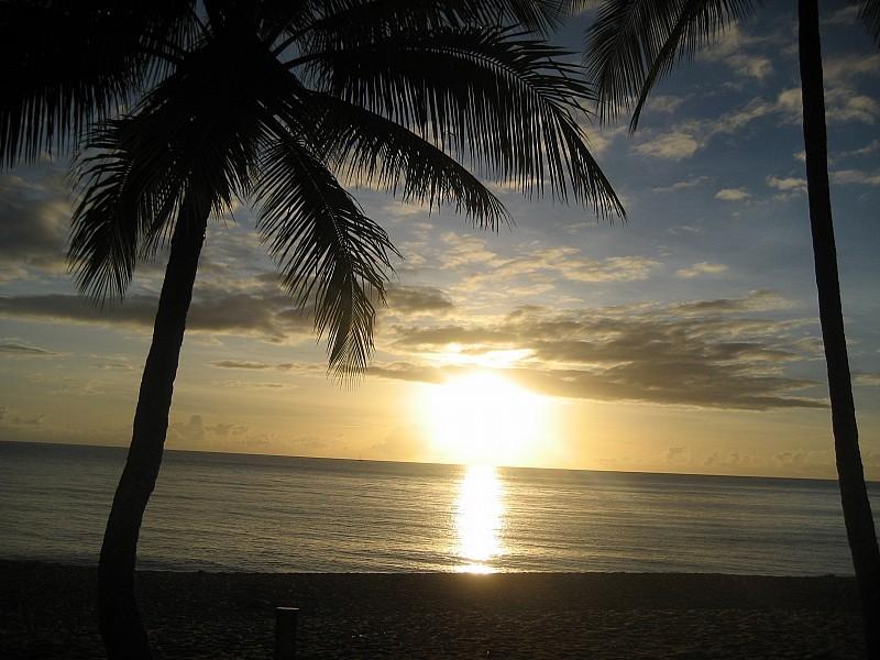 """Morgens, 6h30 Trinity Beach, vor unserer """"Haustür"""" ;-)"""