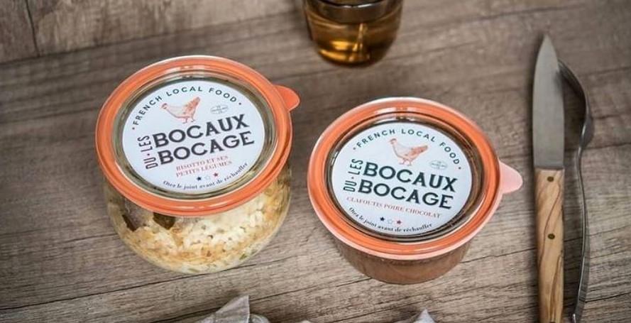 """""""Les Bocaux du Bocage"""" menu en bocaux pour se restaurer sur place"""