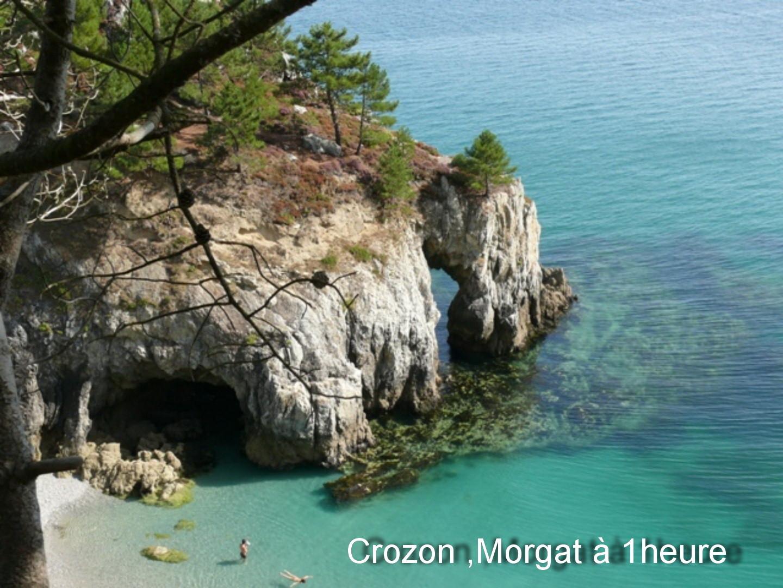 Morgat crique aux eaux turquoise à 1 h