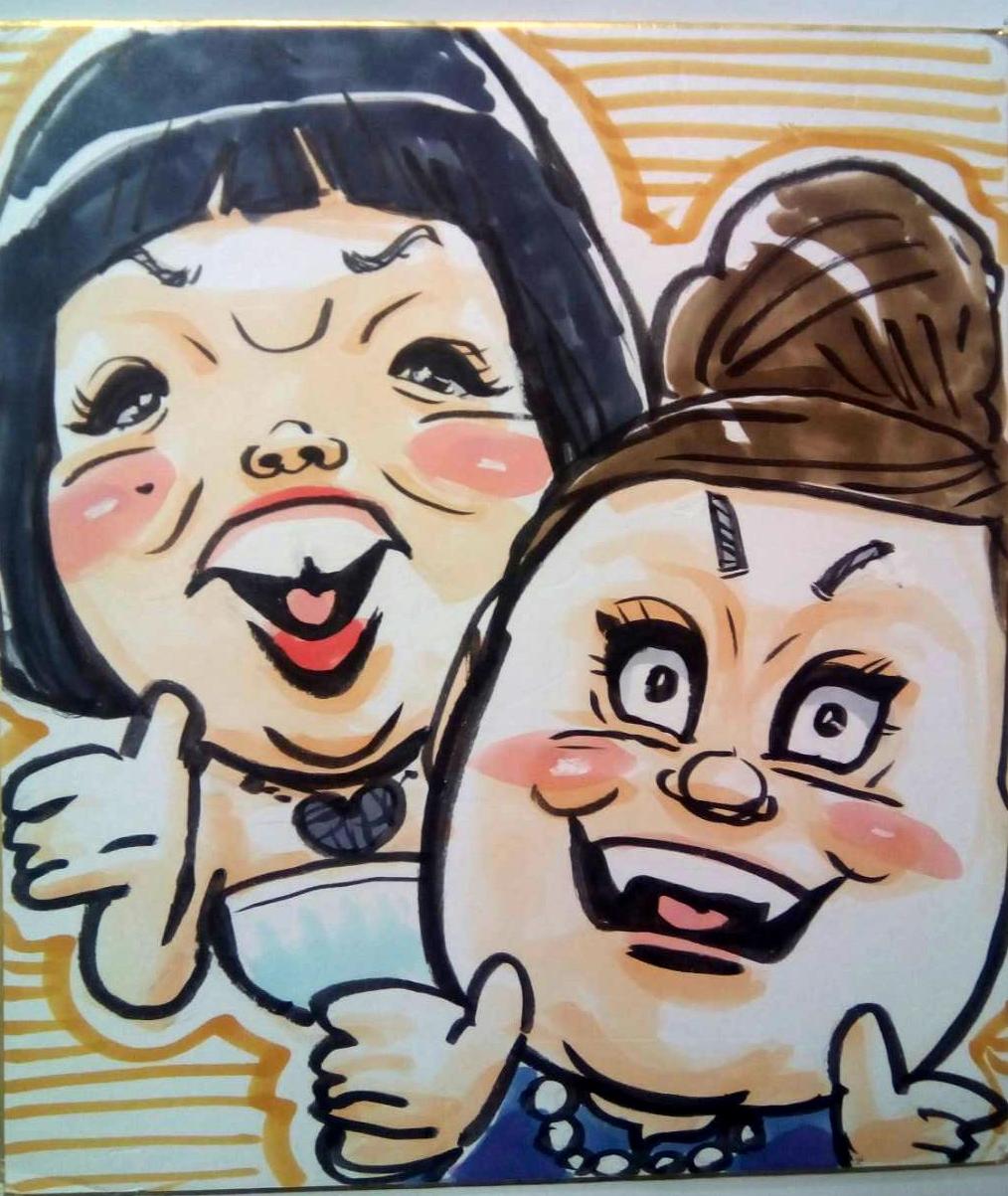似顔絵 洋一丸 笑顔屋 イベント 出張 大阪 関西 おかずクラブ オカリナ ゆいぴー