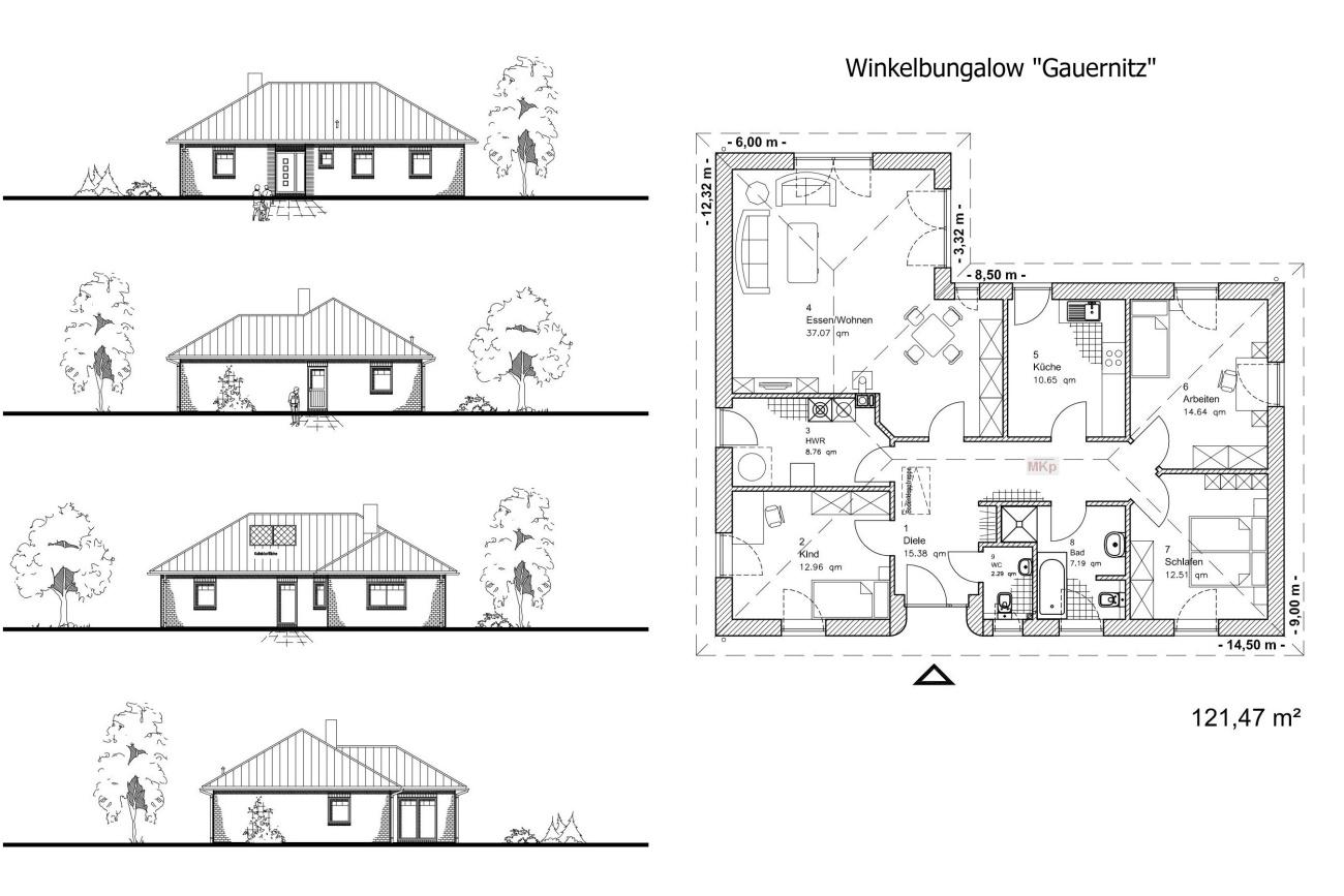 Winkelbungalow GAUERNITZ