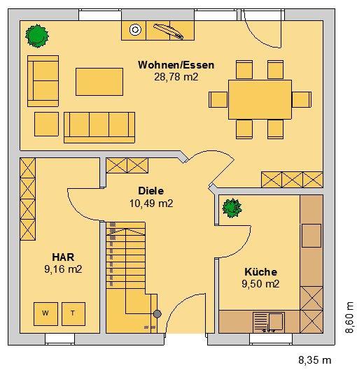 SV DESSAU Grundriss Variante EG (klick vergrößern)