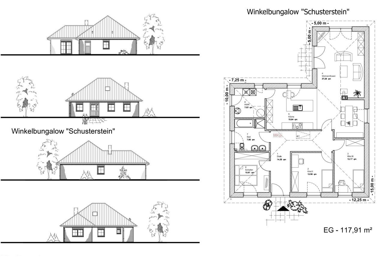 Winkelbungalow SCHUSTERSTEIN