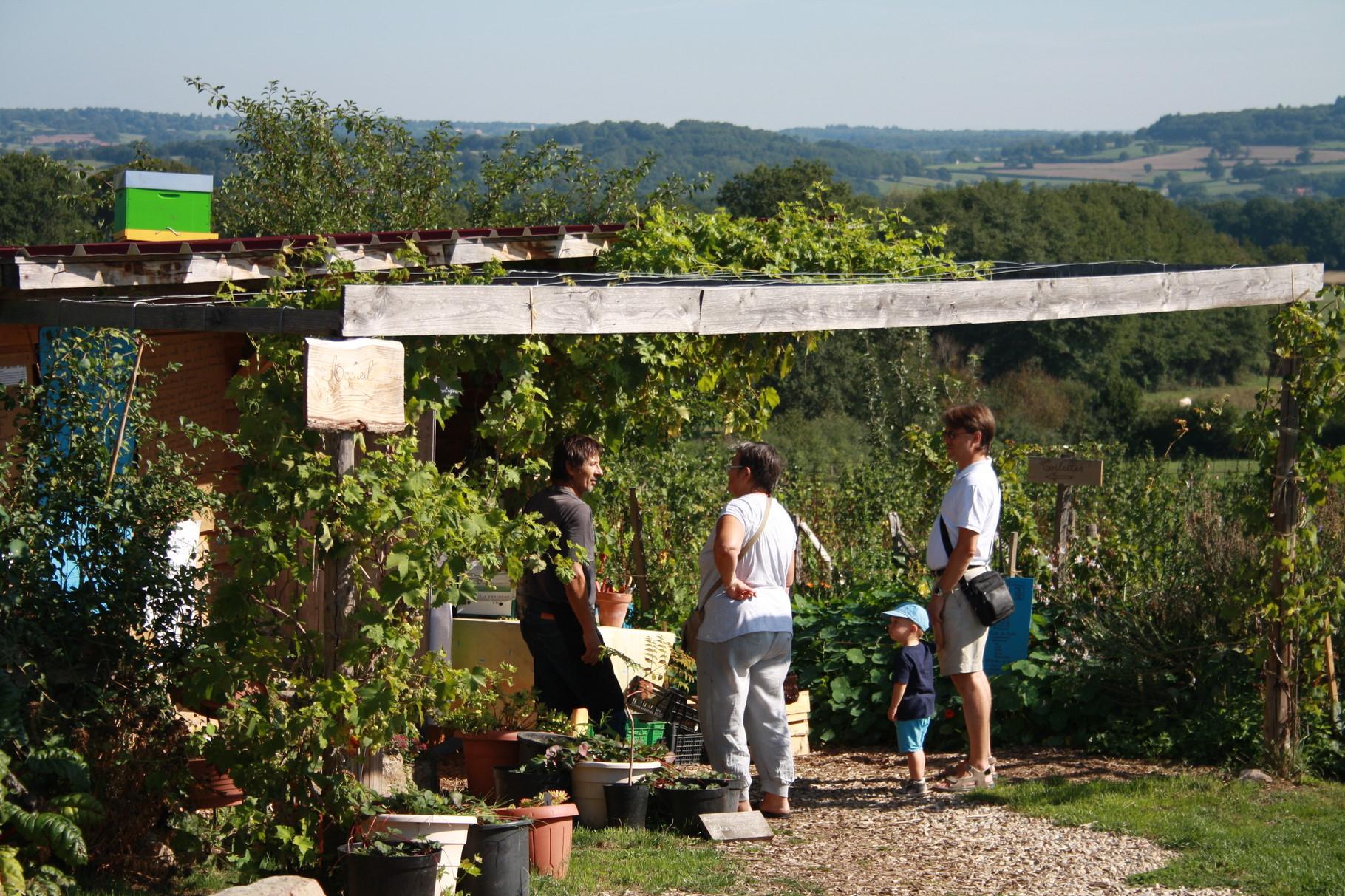 Visite guidée au jardin