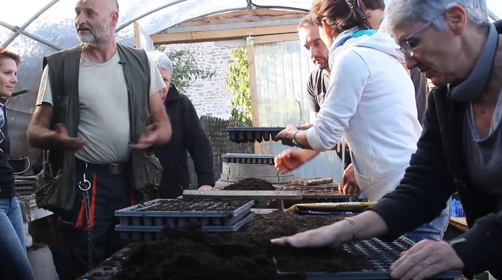 Formation en permaculture : les semis avec Bruno