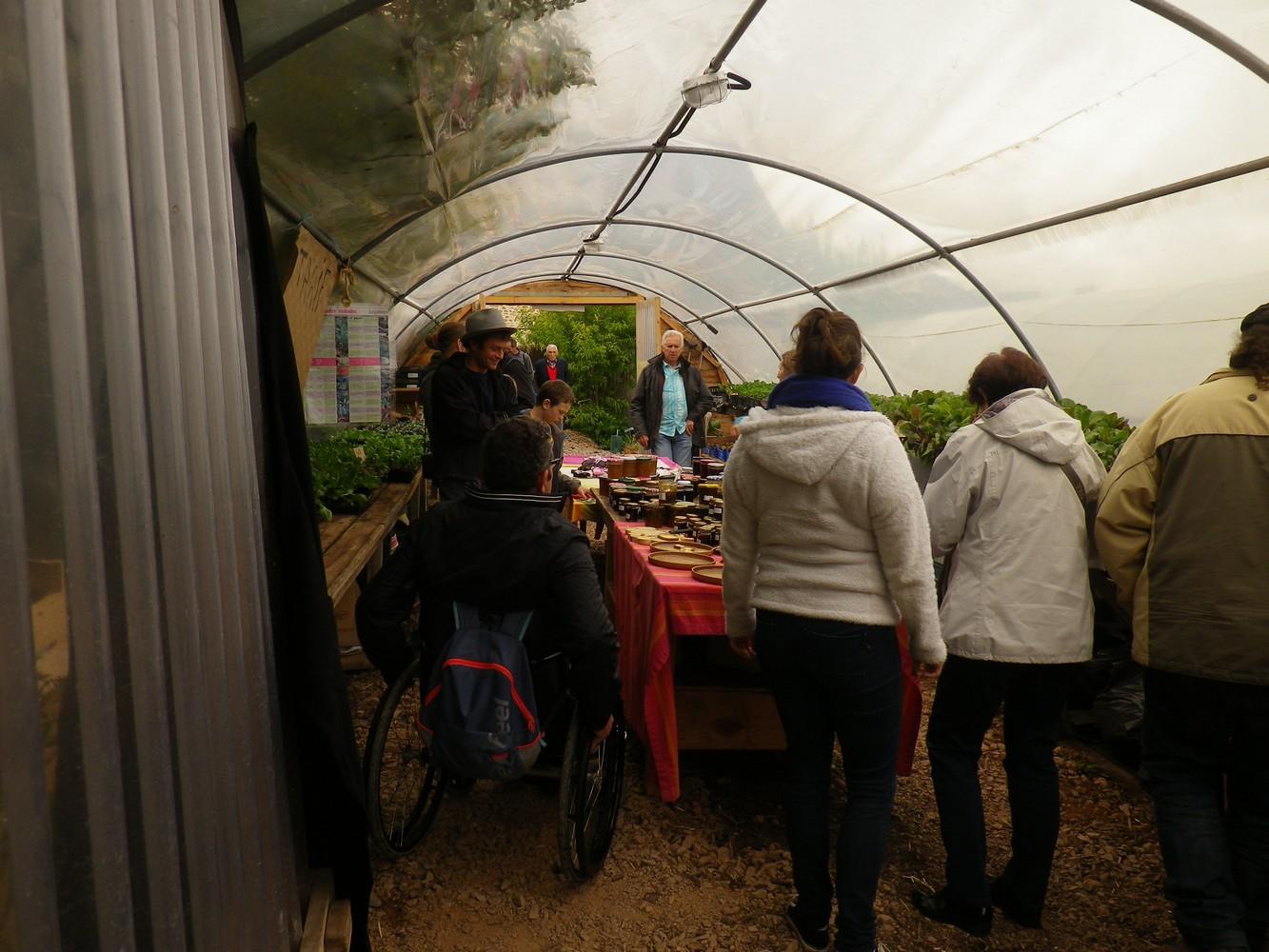 Un jardin et des serres accessibles à tous même en temps pluvieux.