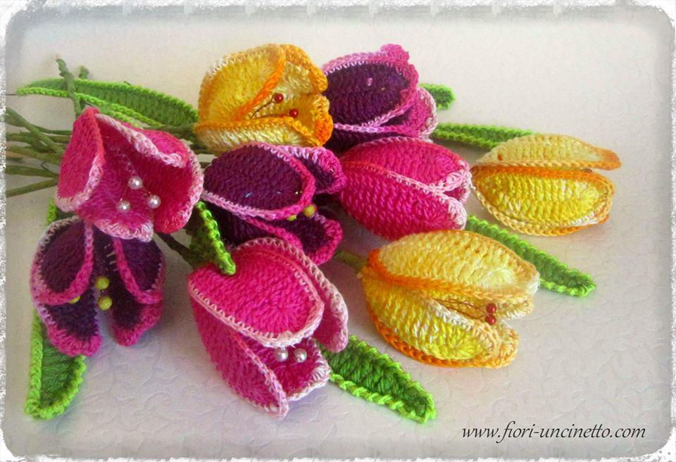 Fiori Uncinetto Crochet Flowers Fiori All Uncinetto