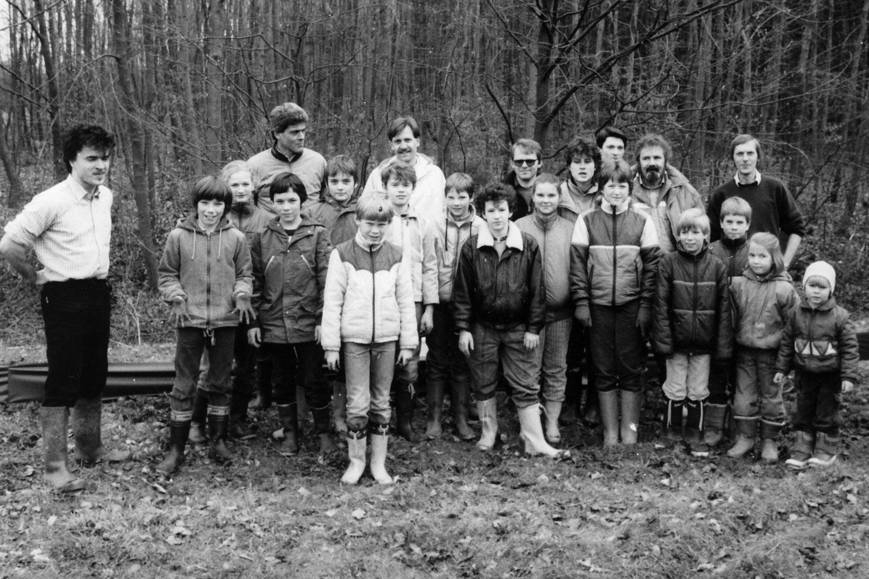 Froschzaun Balzholz 1987 Foto NABU