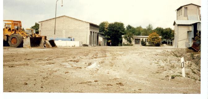 Maschinenhalle im Steinbruch