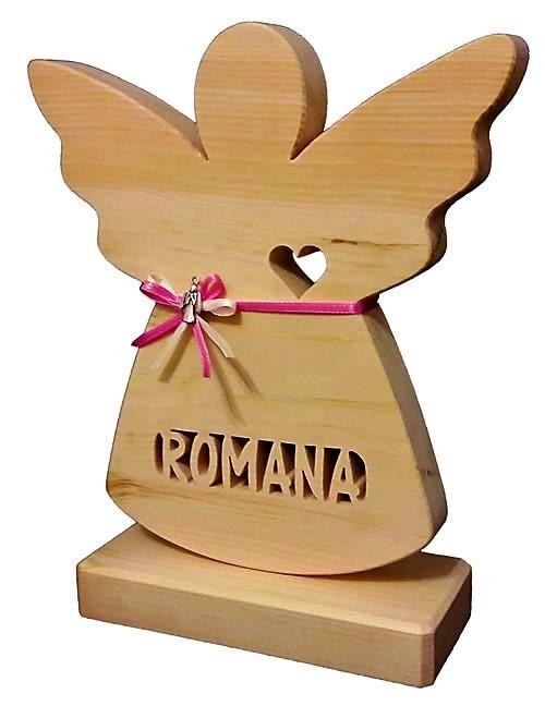 Geschenke zur Taufe aus Holz, Schutzengel mit Namen