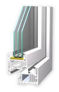 Verglasung Fensterprofil bei idealhus Schwedenhaus