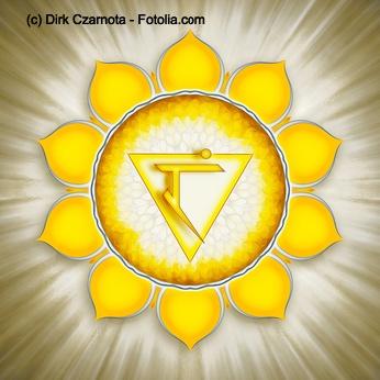 Das indische Symbol für das Solarplexus Chakra