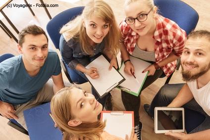 Lerngruppen in der Schule oder an der Uni